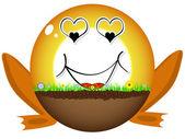 Sunshine ball in love — Stock Vector