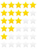 Rating stars — Stock Vector