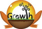дизайн роста — Cтоковый вектор