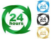 Twenty four hours — Stock Vector