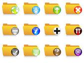 Web icons - folder — Stock Vector