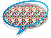 Global communication icon — Stock Vector