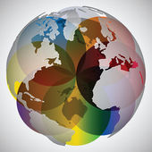 Colorful world globe — Stock Vector