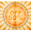 Fifty percent off old paper design — Stock Photo #8084371