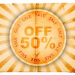 Fifty percent off old paper design — Stock Photo