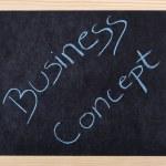 Business concept written on blackboard — Stock Photo