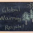 Global warming message — Stock Photo