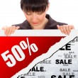 Stock Photo: Fifty percent discount