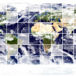 Earth image (source: visibleearth) - Stock Photo