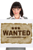 Wanted banner — Stock Photo