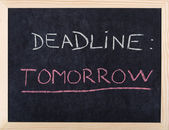 Tomorrow deadline — Stock Photo
