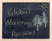 Mensaje del calentamiento global — Foto de Stock