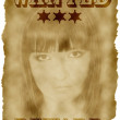 Stock Photo: Wanted poster
