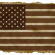 American flag on Old Paper high quality — Stock Photo