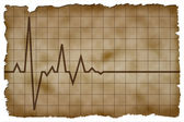Old Paper Background with heart pulse high quality — Stock Photo
