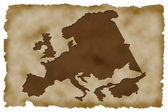 Old Paper Background with european map — Stock Photo