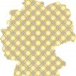 Stock Vector: Map of germany