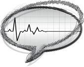 Heart pulse — Stock Vector