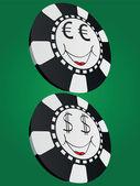 Poker chip — Stock Vector