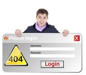 Windows error login — Stock Photo