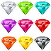 Colores brillantes joyas — Vector de stock
