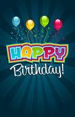 Happy Birthday Greeting Card. — Stock Vector