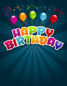 Happy Birthday Greeting Card. — Vetor de Stock