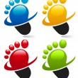 Swoosh Foot Icons — Stock Vector #10545789
