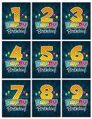 Happy Birthday Numbers — Stock Vector