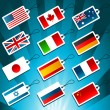 Stock Vector: Tags Representing World Flags