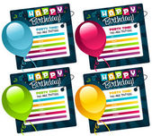Mini Colorful Birthday Cards — Stock Vector