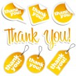 Thank You Stickers and Tags - Stock Vector