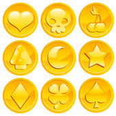 Game Gold Coins — Stock Vector