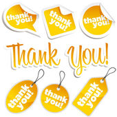 Thank You Stickers and Tags — Stock Vector