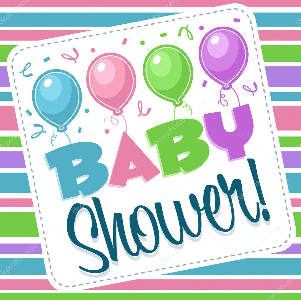 baby shower invitation image vectorielle mictoon 8394384