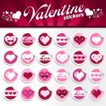 Valentines Stickers — Stockvector  #8513065
