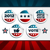 Patriotic Voting Stickers — Stock Vector