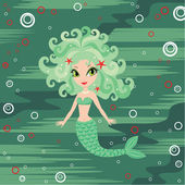 Mermaid cartoon — Stock Vector