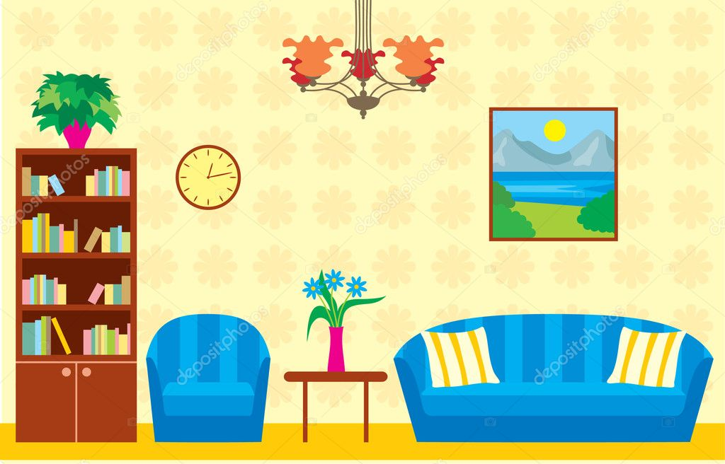 Living Room Stock Vector 10539991