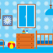 Child room for the newborn - Stockvectorbeeld