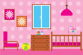 Child room for the newborn — Stock Vector