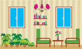 Living room — Stock Vector