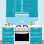 Kitchen furniture. Interior — Stock Vector #8001278