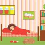 Woman cartoon sleeps — Stock Vector #8001354