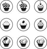 Cupcakes set — Stock Vector