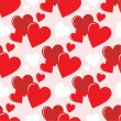 Royalty-Free Stock ベクターイメージ: Seamless hearts pattern
