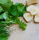L'ail et la verdure — Photo