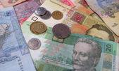 Papel y moneda metálica — Foto de Stock