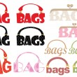 "Stock Vector: Word of ""bag"" in form of logotype"
