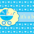 Royalty-Free Stock Vector Image: Baby boy arrival announcement card